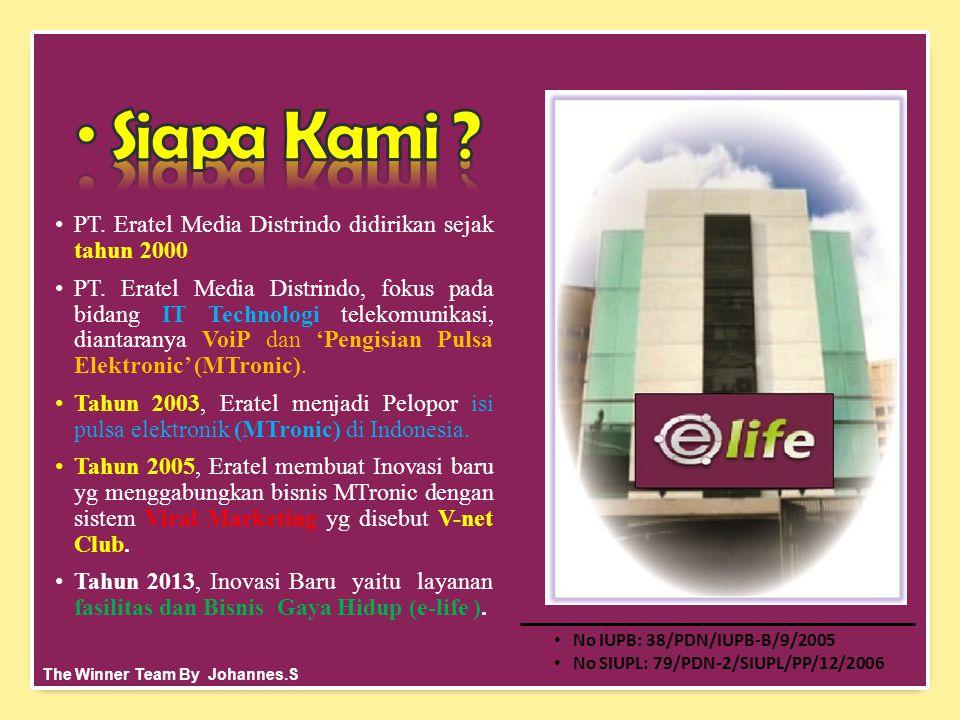 •PT.Eratel Media Distrindo didirikan sejak tahun 2000.