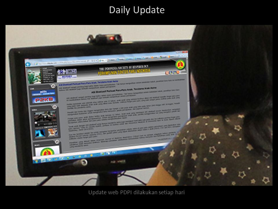 Foto Ruang Operasional Web PDPI Seluruh kegiatan operasional web PDPI dilakukan di ruangan ini.