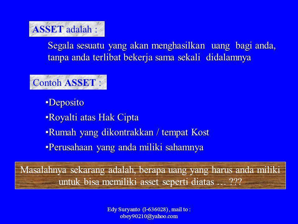 Edy Suryanto (I-636028), mail to : obey90210@yahoo.com Perbedaan diantara keduanya hanyalah terletak pada satu kata kunci, yaitu : Orang Kaya pada umu