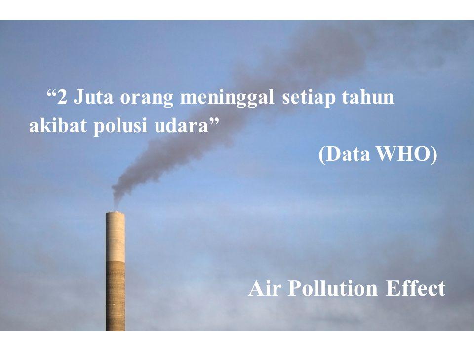 2 Juta orang meninggal setiap tahun akibat polusi udara (Data WHO) Air Pollution Effect