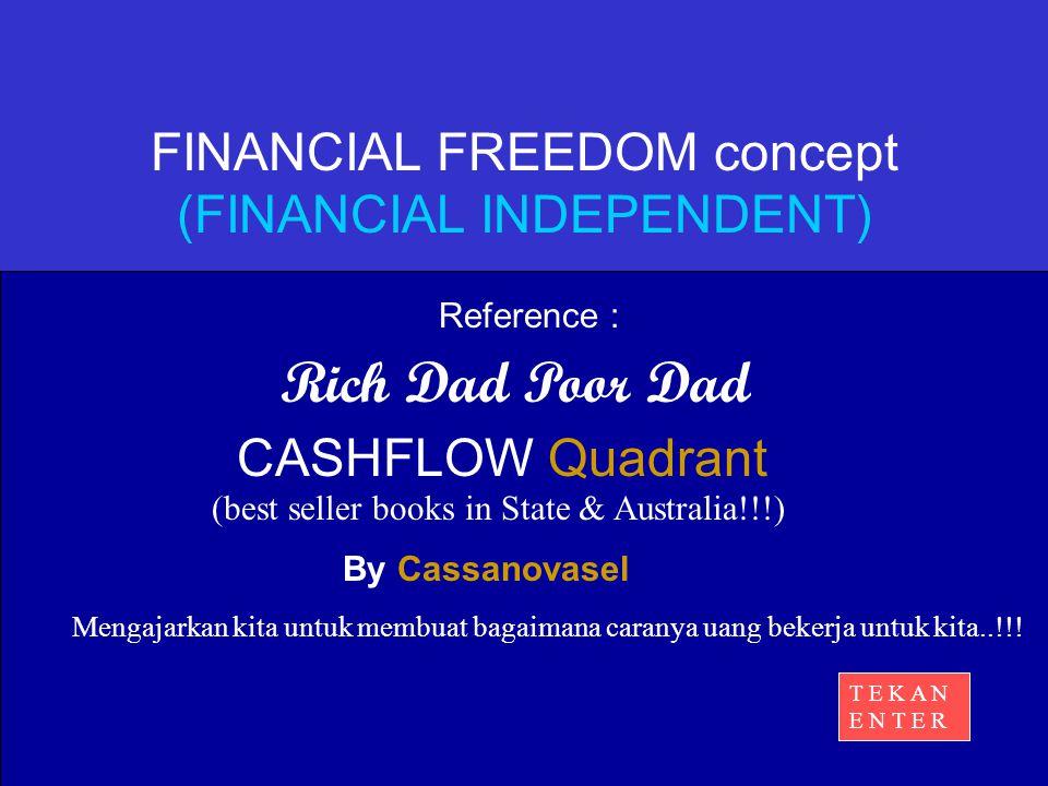 Rich Dad Poor Dad By Cassanovasel Mengajarkan kita untuk membuat bagaimana caranya uang bekerja untuk kita..!!.