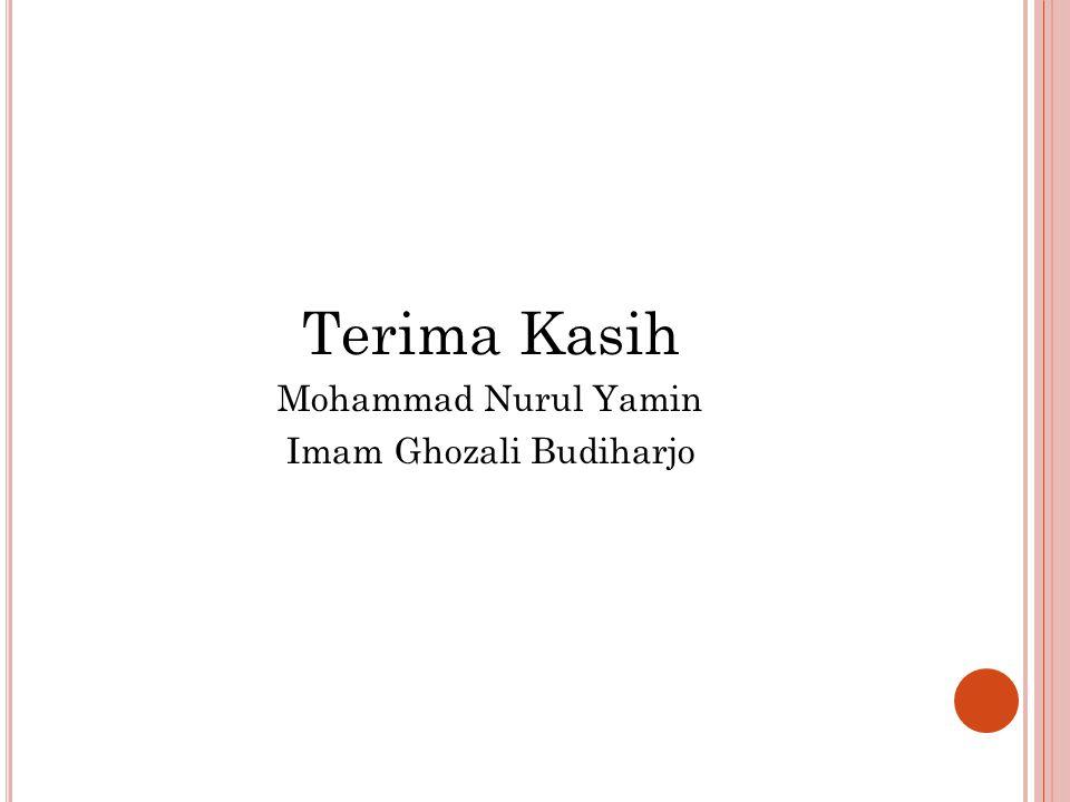 Terima Kasih Mohammad Nurul Yamin Imam Ghozali Budiharjo