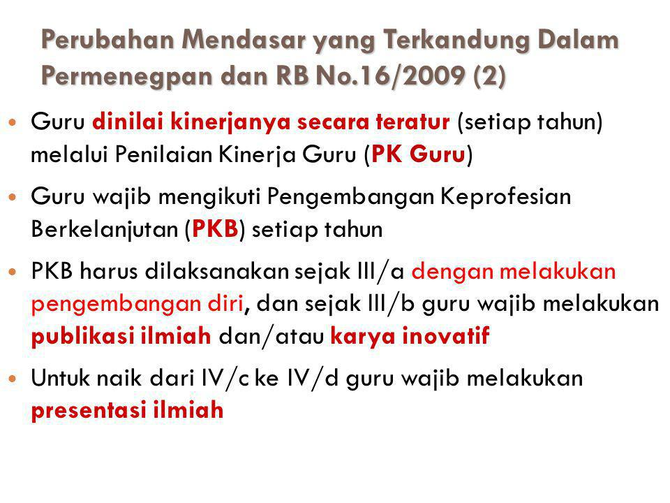 (3) Nilai kinerja guru sebagaimana dimaksud pada ayat (2) dikonversikan ke dalam angka kredit yang harus dicapai, sebagai beikut: a.