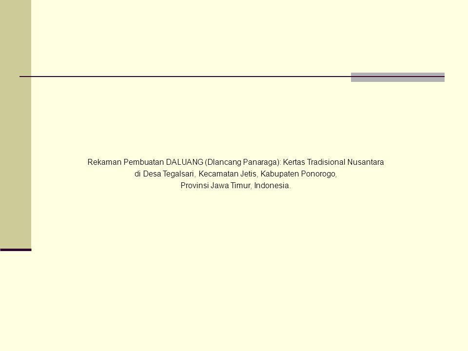 Pemasangan alat untuk proses penghalusan kertas DALUANG