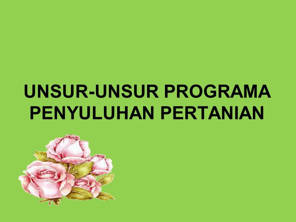 Langkah-langkah menyusun Programa Desa 1.Penyuluh memfasilitasi 2.PRA kegiatan (RDK/RKK) Programa Desa 3.Disusun oleh : Poktan + Kaurbang + Penyuluh, dibahas dengan BPD/ LMD; disetujui oleh Kades (dalam Musrenbangdes)
