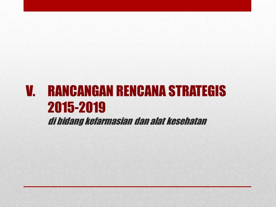 V.RANCANGAN RENCANA STRATEGIS 2015-2019 di bidang kefarmasian dan alat kesehatan