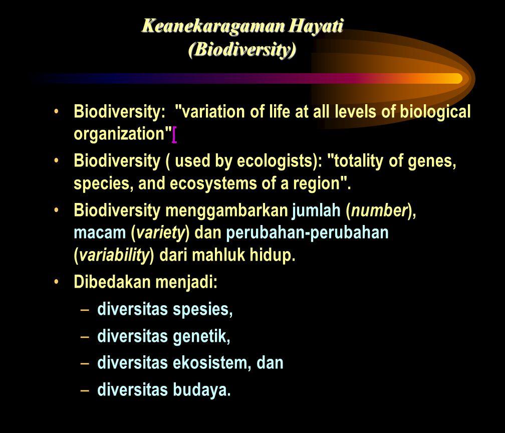 • Biodiversity: