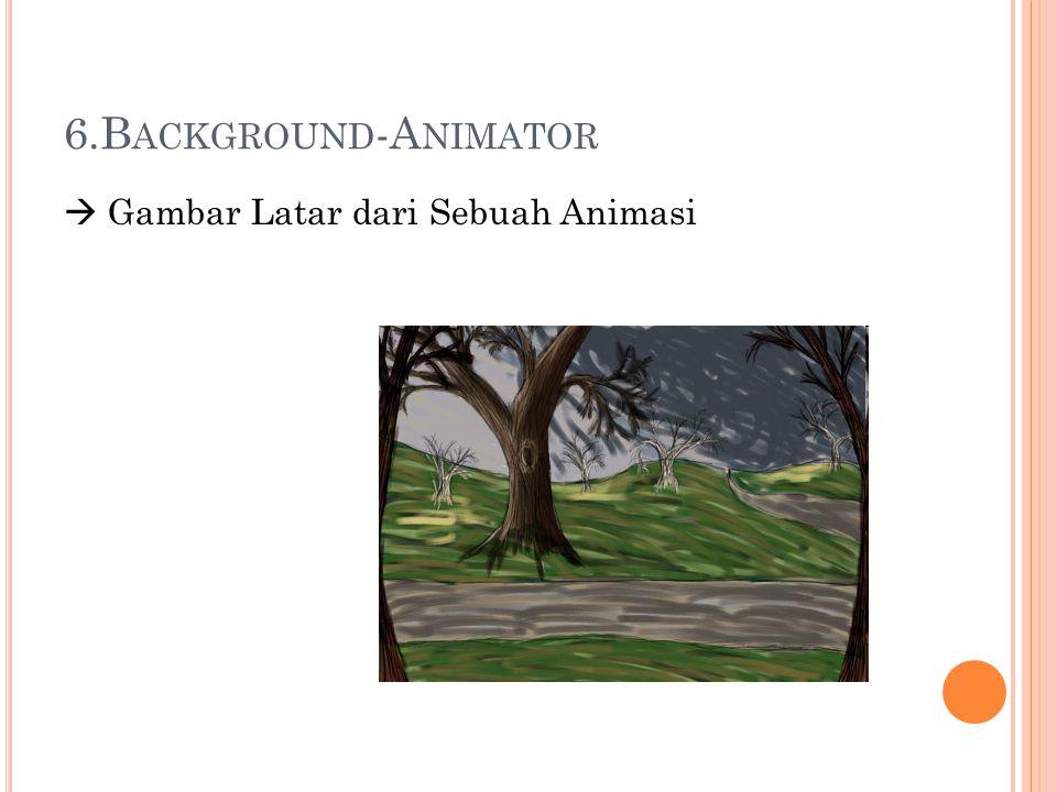 6.B ACKGROUND -A NIMATOR  Gambar Latar dari Sebuah Animasi