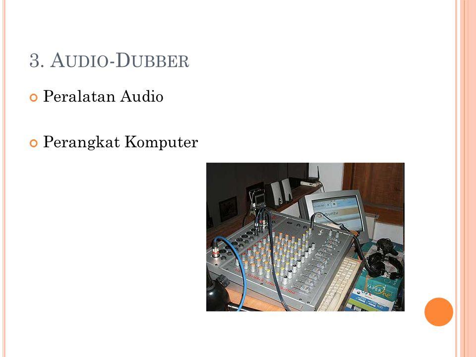 3. A UDIO -D UBBER Peralatan Audio Perangkat Komputer