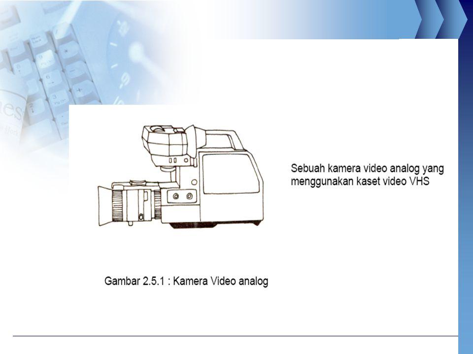 KAMERA VIDEO DIGITAL  Kamera video jenis ini merekam gambar dan menyimpannya dalam bentuk digital.