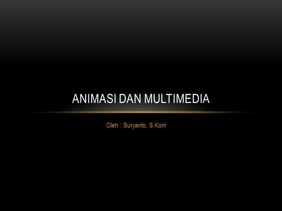 Oleh : Suryanto, S.Kom ANIMASI DAN MULTIMEDIA
