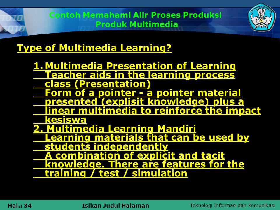 Teknologi Informasi dan Komunikasi Hal.: 35Isikan Judul Halaman Langkah 2 2.