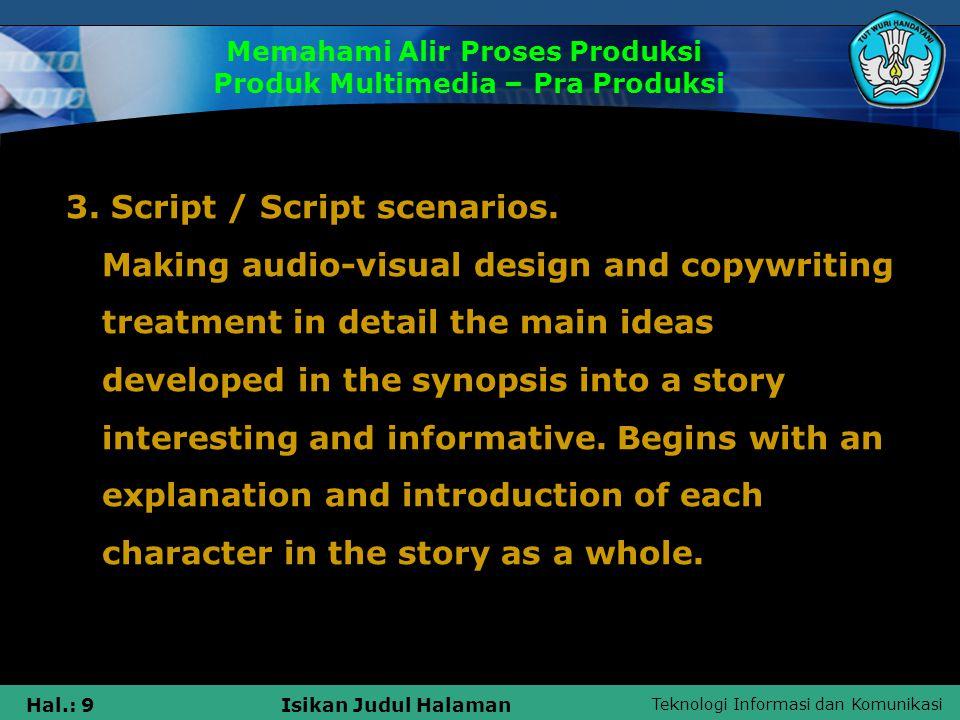 Teknologi Informasi dan Komunikasi Hal.: 10Isikan Judul Halaman 4.