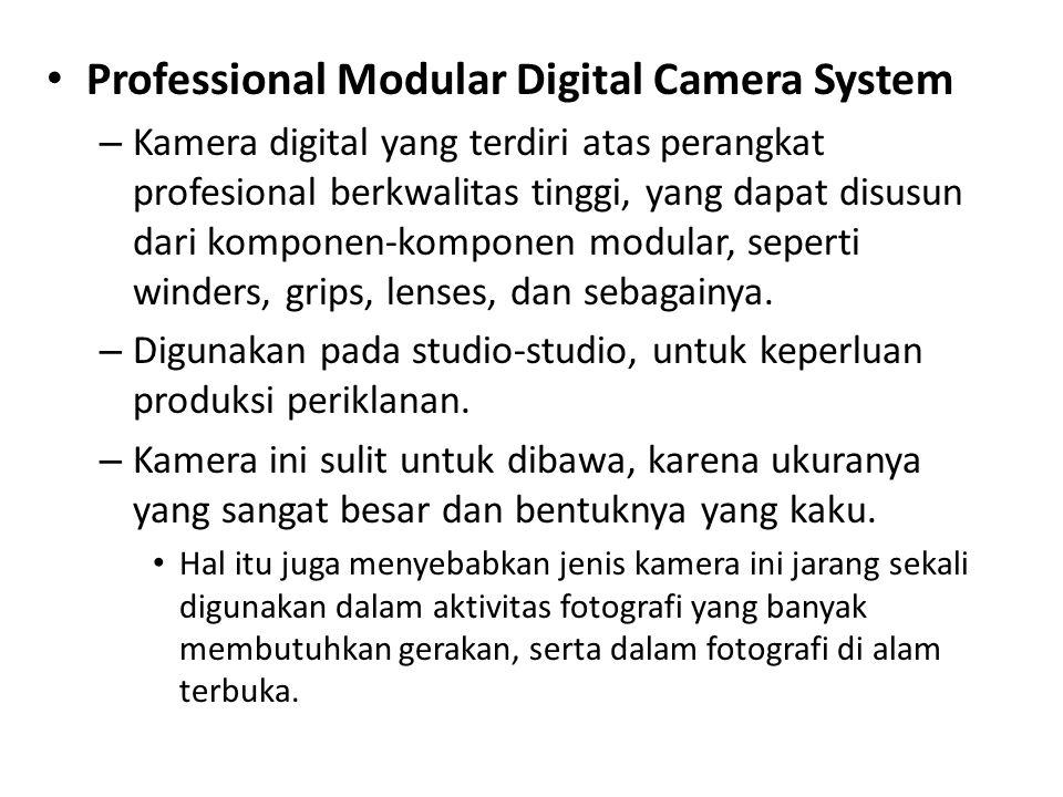 • Professional Modular Digital Camera System – Kamera digital yang terdiri atas perangkat profesional berkwalitas tinggi, yang dapat disusun dari komponen-komponen modular, seperti winders, grips, lenses, dan sebagainya.