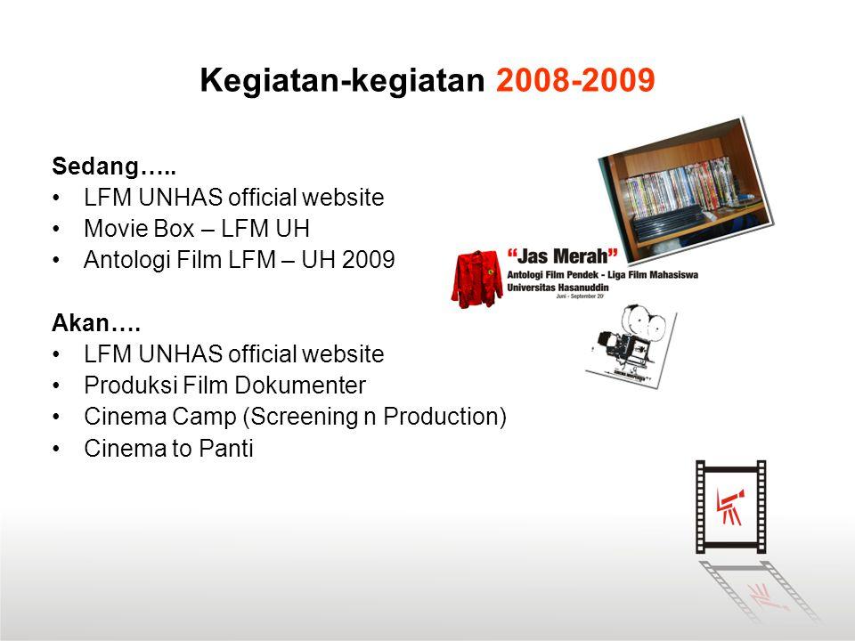 Kegiatan-kegiatan 2008-2009 Sedang….. •LFM UNHAS official website •Movie Box – LFM UH •Antologi Film LFM – UH 2009 Akan…. •LFM UNHAS official website