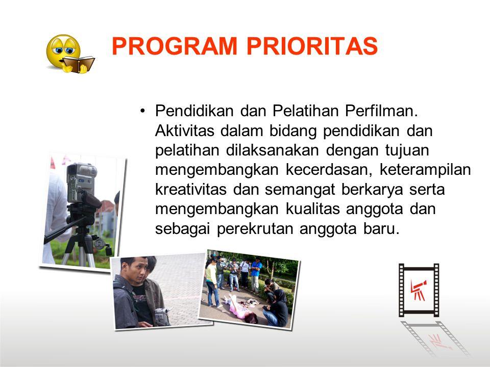 •Pendidikan dan Pelatihan Perfilman. Aktivitas dalam bidang pendidikan dan pelatihan dilaksanakan dengan tujuan mengembangkan kecerdasan, keterampilan