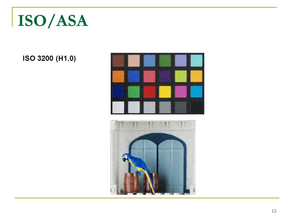 13 ISO 3200 (H1.0) ISO/ASA
