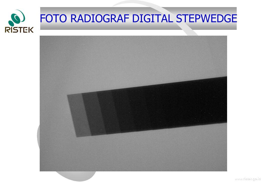 www.ristek.go.id FOTO RADIOGRAF DIGITAL STEPWEDGE