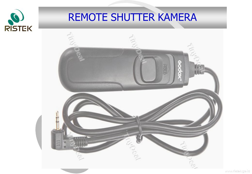 www.ristek.go.id REMOTE SHUTTER KAMERA