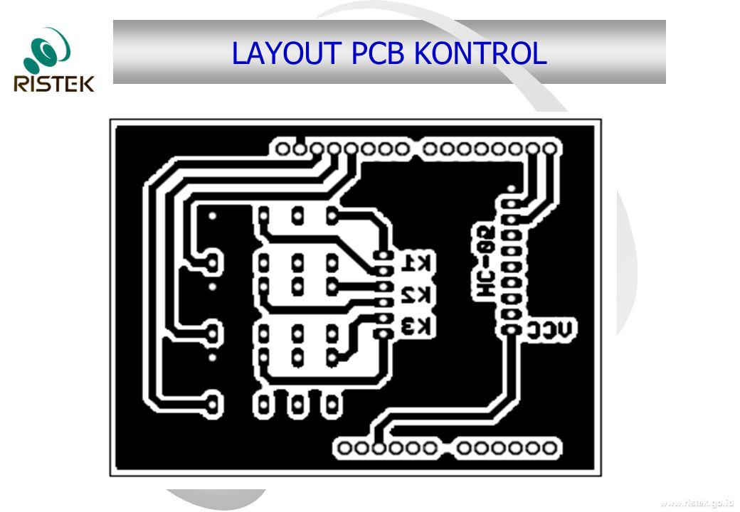 www.ristek.go.id LAYOUT PCB KONTROL
