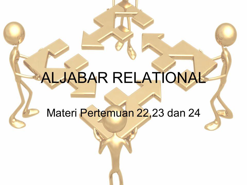 ALJABAR RELATIONAL Materi Pertemuan 22,23 dan 24