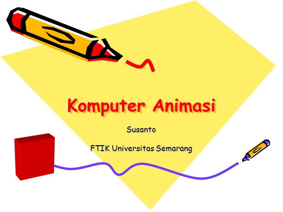 Definisi •Animasi komputer adalah seni membuat gambar bergerak dengan menggunakan komputer dan merupakan bagian dari bidang komputer grafik dan Animasi.