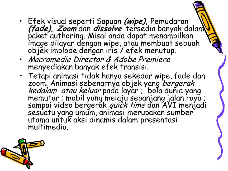 Animasi Cel •Teknik animasi yang dipopulerkan oleh Disney menggunakan serangkaian grafis progresif yang berbeda dalam setiap frame dalam bioskop (yang dimainkan 24 frame per detik).