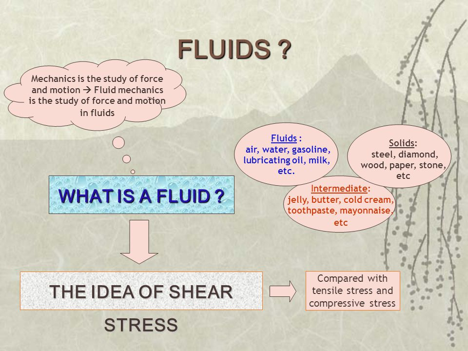 FLUIDS . WHAT IS A FLUID .