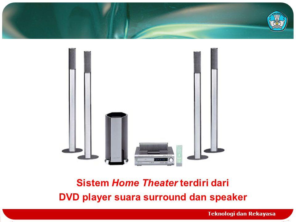 Teknologi dan Rekayasa Sistem Home Theater terdiri dari DVD player suara surround dan speaker