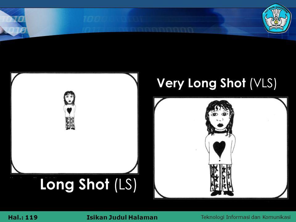 Teknologi Informasi dan Komunikasi Hal.: 119Isikan Judul Halaman Very Long Shot (VLS) Long Shot (LS)
