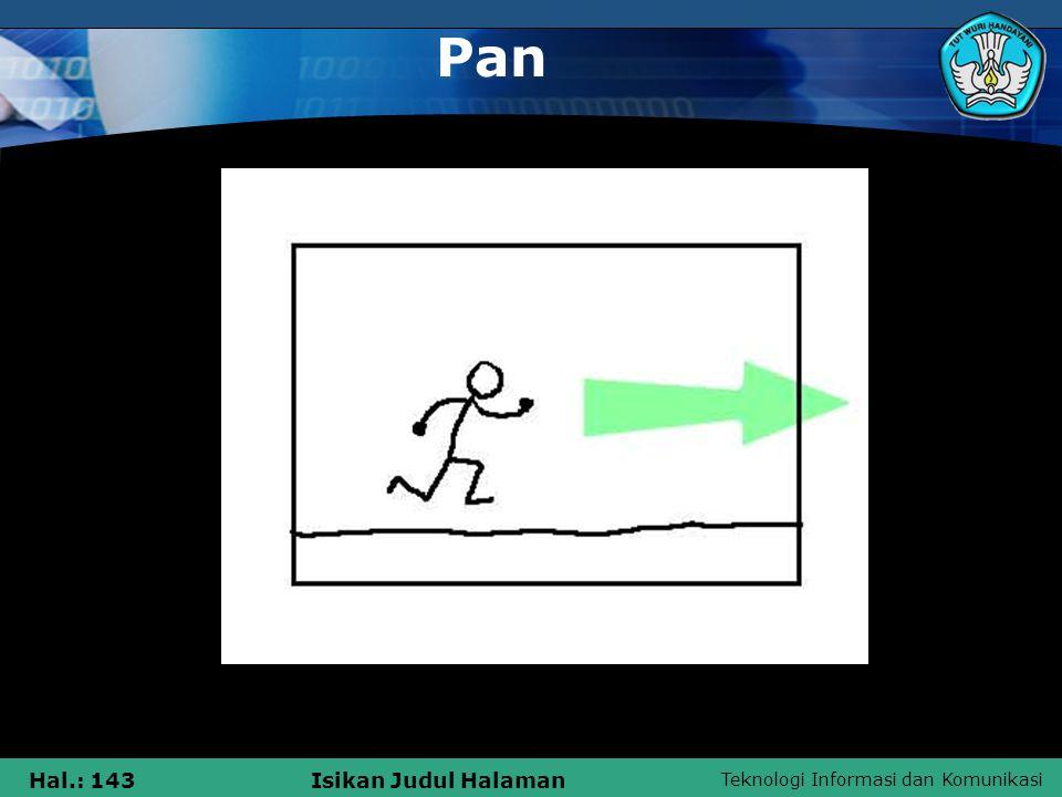 Teknologi Informasi dan Komunikasi Hal.: 143Isikan Judul Halaman Pan