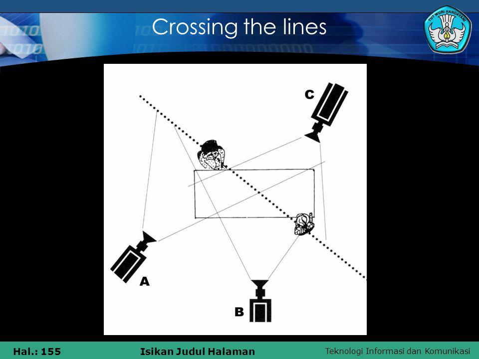 Teknologi Informasi dan Komunikasi Hal.: 155Isikan Judul Halaman Crossing the lines