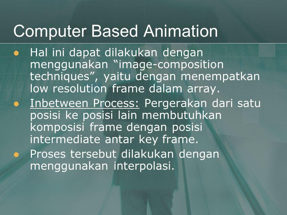 """Computer Based Animation  Hal ini dapat dilakukan dengan menggunakan """"image-composition techniques"""", yaitu dengan menempatkan low resolution frame da"""