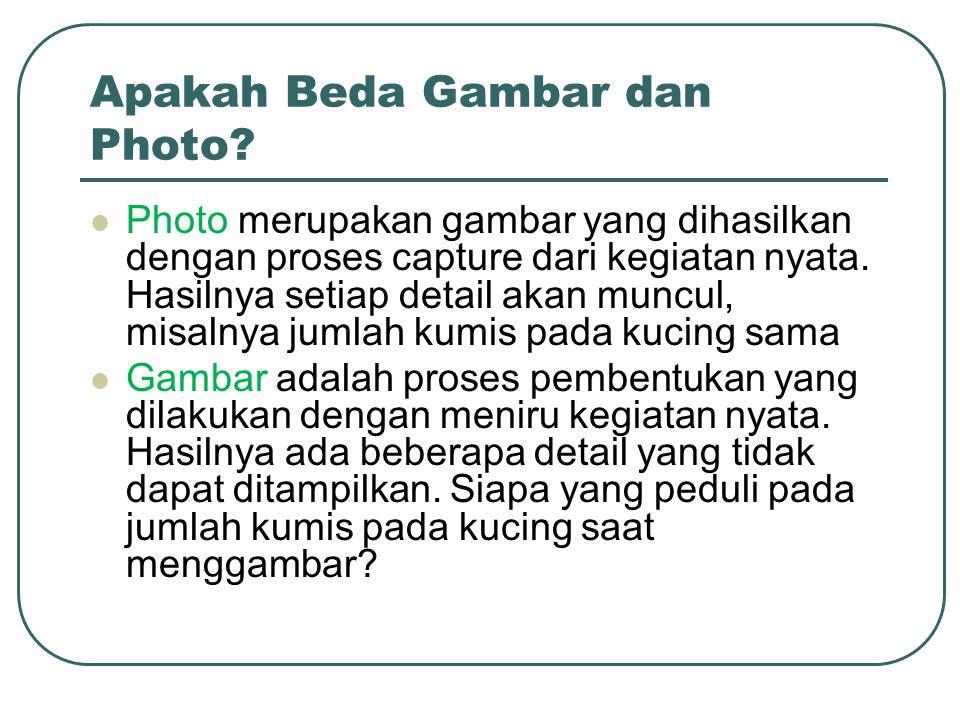 Apakah Beda Gambar dan Photo.