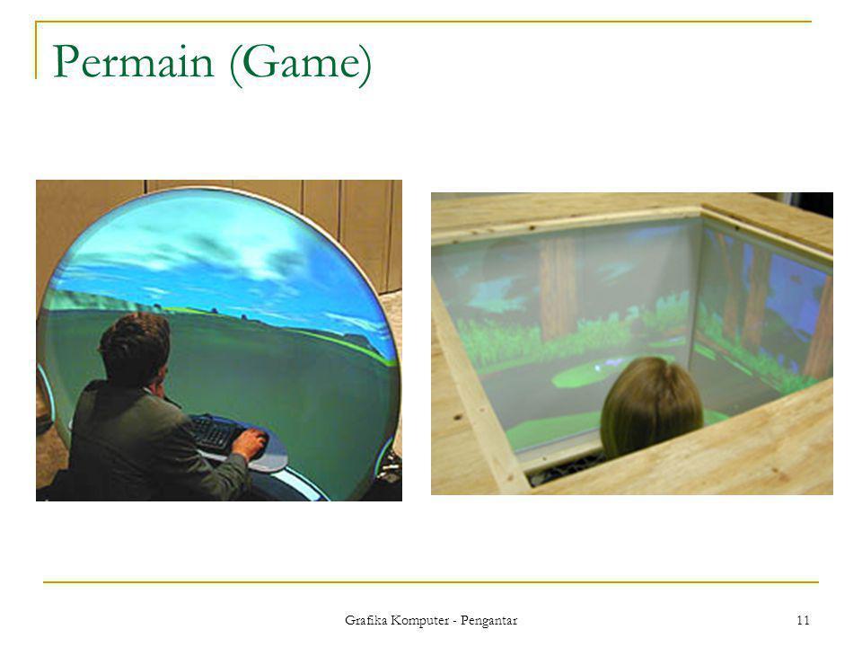 Grafika Komputer - Pengantar 11 Permain (Game)
