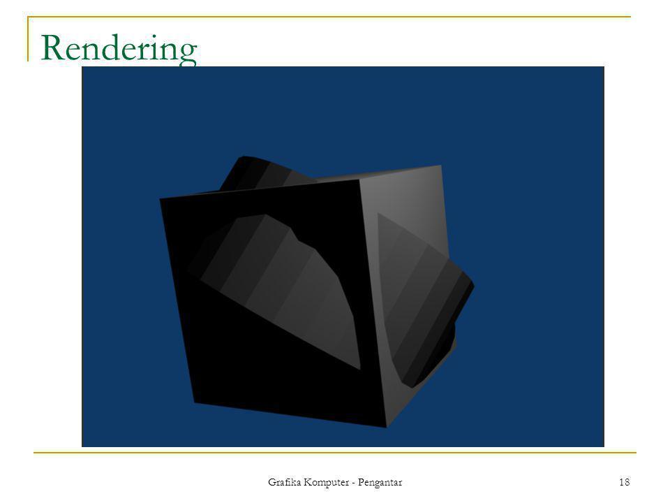 Grafika Komputer - Pengantar 18 Rendering