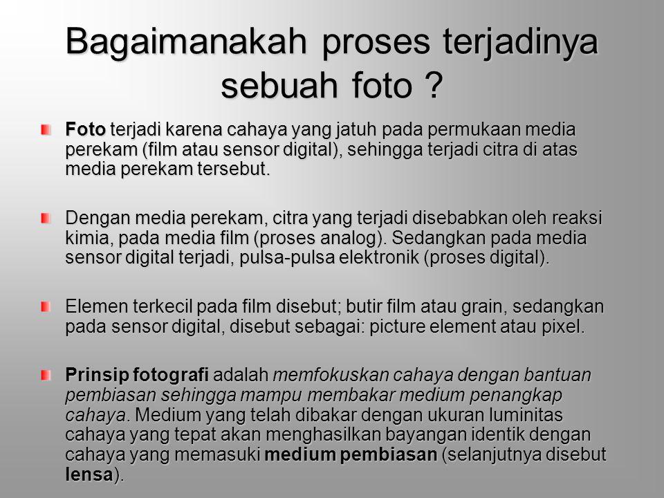 Bagaimanakah proses terjadinya sebuah foto .