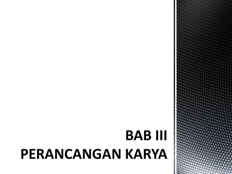 BAB III PERANCANGAN KARYA