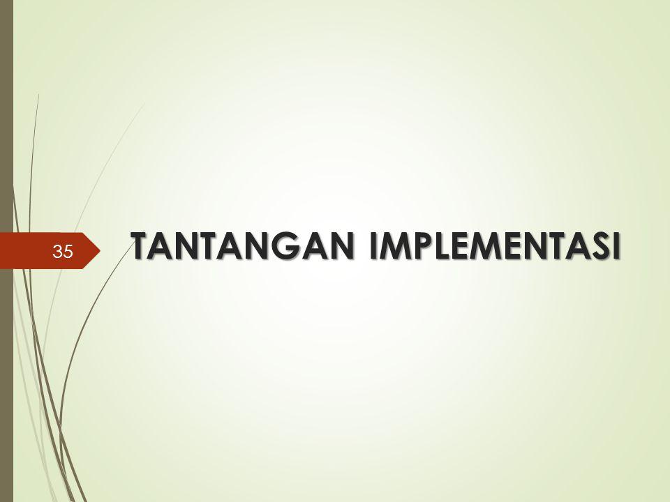 TANTANGAN IMPLEMENTASI 35
