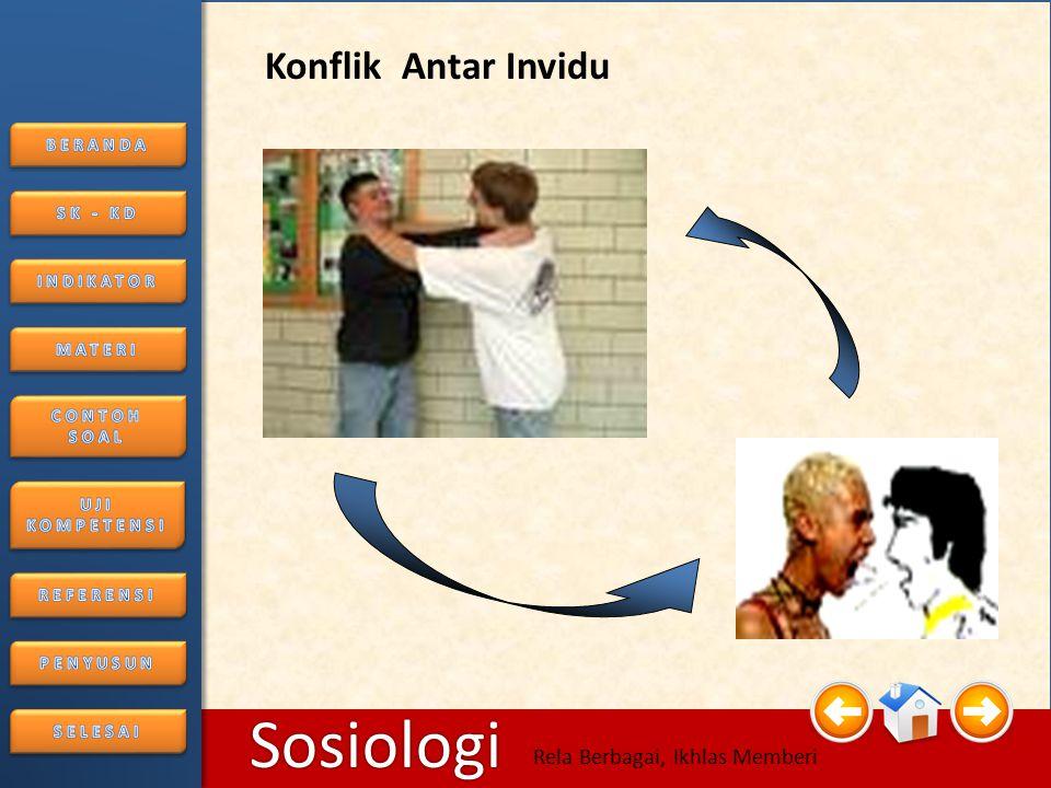 6/25/2014116/25/2014 Sosiologi Rela Berbagai, Ikhlas Memberi • Konflik Sosial KONFLIK ANTAR KELOMPOK MASYARAKAT
