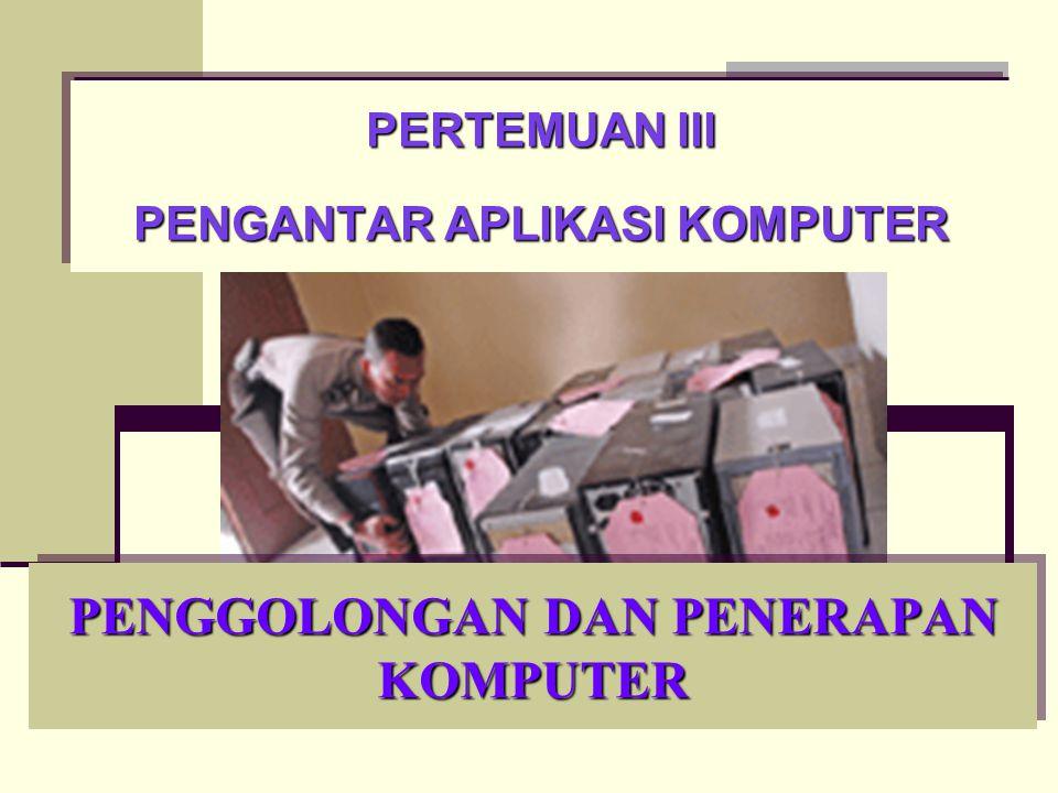 Kelebihan dan Kekurangan Komputer  Kelebihan komputer: Kecepatan dan ketepatan proses yang tinggi.