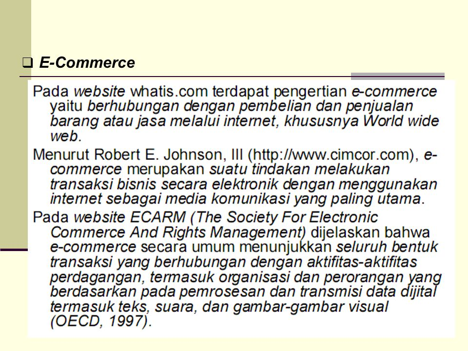  E-Commerce