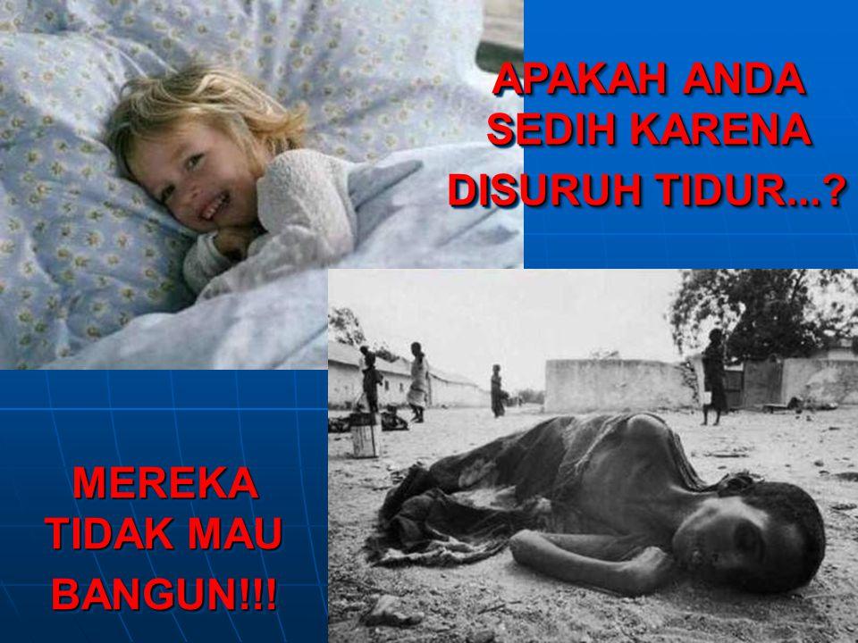 APAKAH ANDA SEDIH KARENA DISURUH TIDUR...? MEREKA TIDAK MAU BANGUN!!!