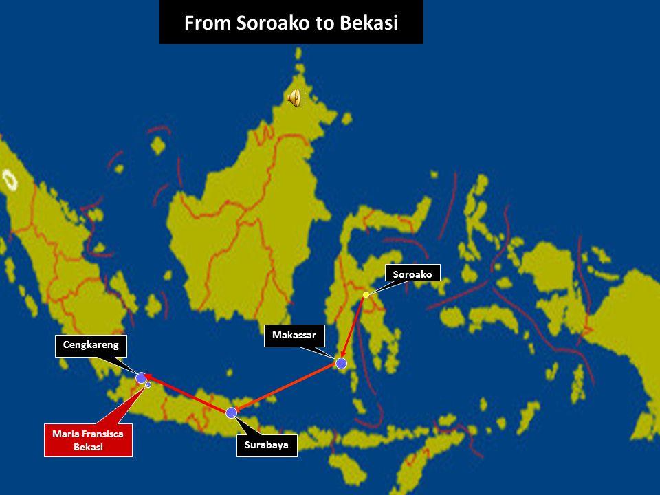 hjp.maryanto/file/2008 From Soroako to Bekasi Soroako Maria Fransisca Bekasi Cengkareng Makassar Surabaya