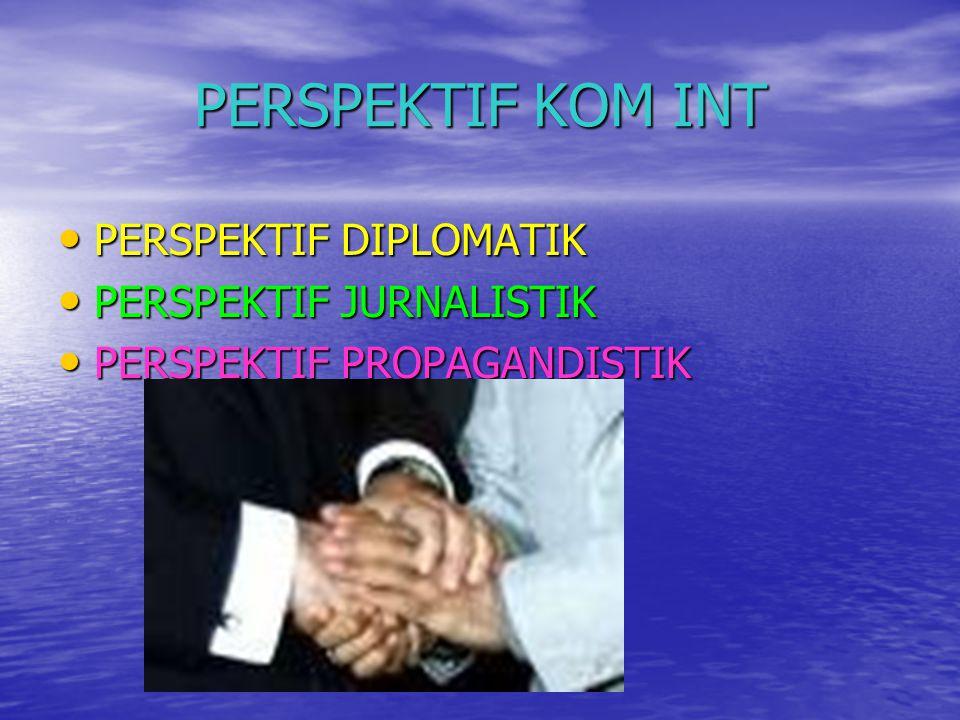 PERSPEKTIF KOM INT • PERSPEKTIF DIPLOMATIK • PERSPEKTIF JURNALISTIK • PERSPEKTIF PROPAGANDISTIK