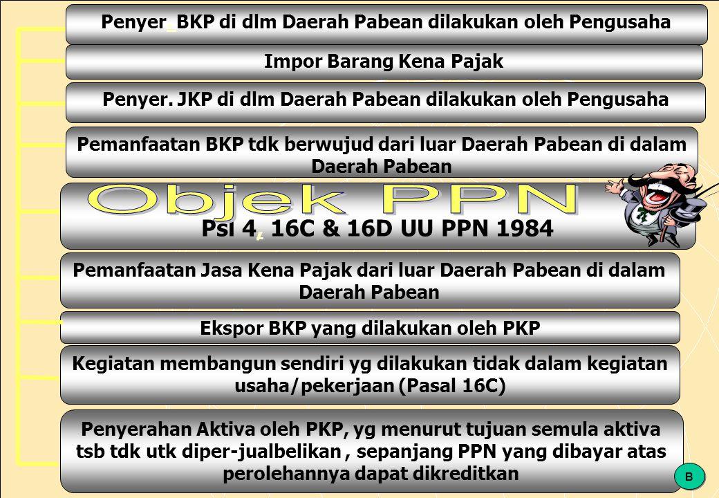 126 Penyer.BKP di dlm Daerah Pabean dilakukan oleh Pengusaha.