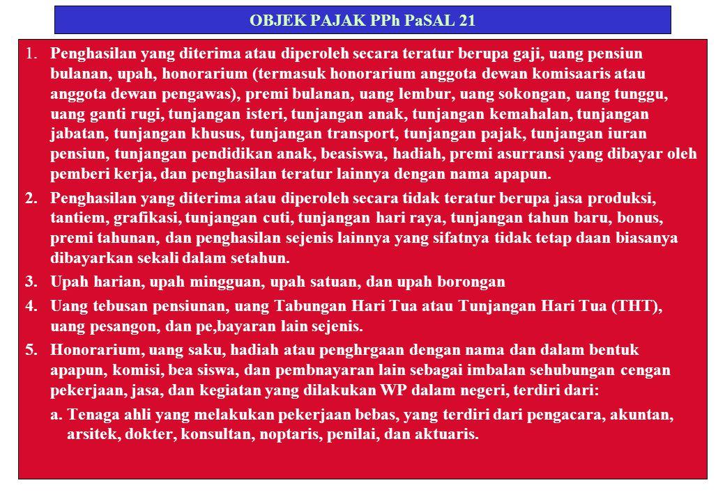 OBJEK PAJAK PPh PaSAL 21 1.