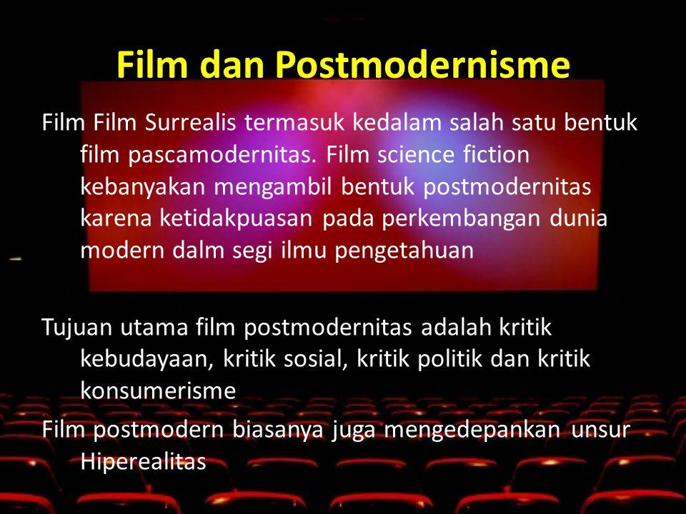 Film dan Postmodernisme Film Film Surrealis termasuk kedalam salah satu bentuk film pascamodernitas.
