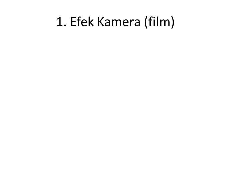 Jenis Efek Khusus •Efek Kamera (film) •Efek Kamera (video) •Efek Optikal(Pasca Produksi) •Efek Digital (CGI) •Model & Miniatur •Efek Fisik