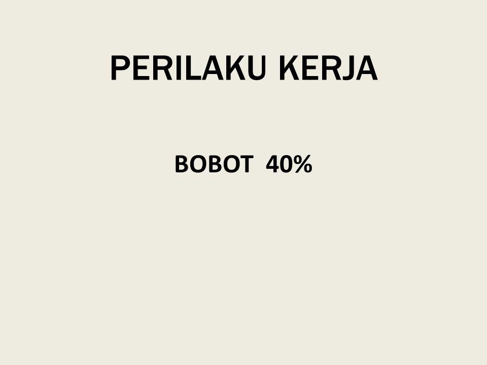 PERILAKU KERJA BOBOT 40%